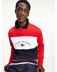 Tommy Hilfiger Colour-blocked Sweatshirt Met Logo - Rood
