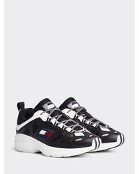 Tommy Hilfiger Heritage Sneaker Met Cut-out - Zwart