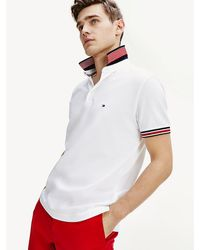 Tommy Hilfiger - Contrast Collar Slim Fit Polo - Lyst