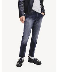 Tommy Hilfiger Denton Straight Fit Faded Jeans - Blauw