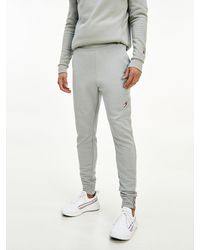 Tommy Hilfiger Sport Th Cool jogger Van Fleece Met Logo - Grijs