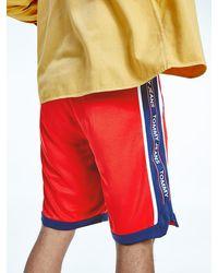 Tommy Hilfiger Mesh Basketball Shorts - Red