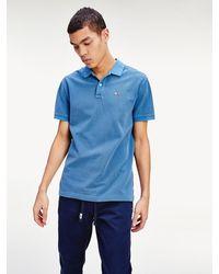 Tommy Hilfiger Garment-dyed Polo Van Puur Katoen - Blauw