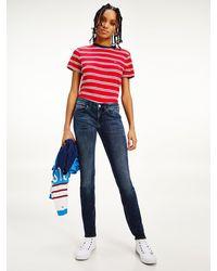Tommy Hilfiger Scarlett Low Rise Skinny Jeans - Blue