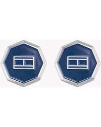 Tommy Hilfiger Octagonal Shape Cufflinks - Blue