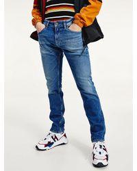 Tommy Hilfiger Scanton Slim Fit Jeans Van Gerecycled Katoen - Blauw