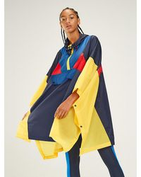 Tommy Hilfiger Colour-blocked Poncho - Blauw