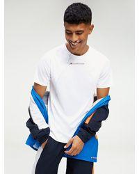 Tommy Hilfiger T-shirt Met Reflecterend Stiksel - Wit
