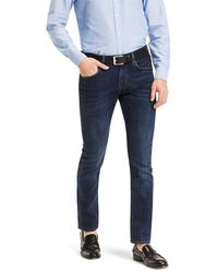 Tommy Hilfiger Straight Fit Jeans Met Donkere Wassing - Blauw