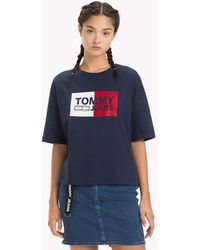 Tommy Hilfiger - Cropped Boxy Fit T-shirt - Lyst