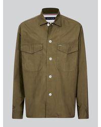 Tommy Hilfiger Overhemd Van Puur Katoen In Utility-stijl - Groen