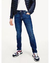 Tommy Hilfiger Extra Slim Fit Jeans Met Indigo-wassing - Blauw
