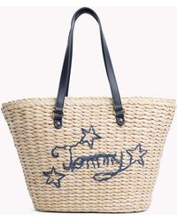 Tommy Hilfiger Straw Tote Bag - Multicolour