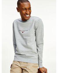 Tommy Hilfiger Essential Sweatshirt Van Biologisch Katoen - Grijs