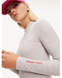 Tommy Hilfiger Long Sleeve Bodysuit - Gray