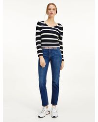 Tommy Hilfiger Rome Medium Rise Straight Jeans - Blue