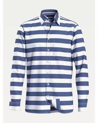 Tommy Hilfiger Gestreept Overhemd Van Katoen - Blauw