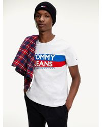 Tommy Hilfiger Slim Fit T-shirt Met 1985-logo - Grijs