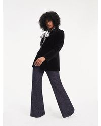Tommy Hilfiger Zendaya Curve Jacquard Bootcut Jeans - Blue