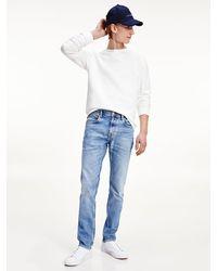 Tommy Hilfiger Denton Straight Jeans Met Fading En Wassing - Blauw
