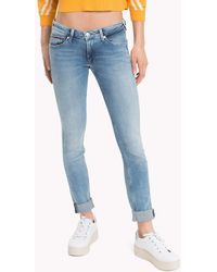 Tommy Hilfiger - Low Rise Faded Jeans - Lyst