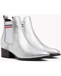 Tommy Hilfiger - Metallic Low Heel Chelsea Boots - Lyst