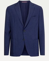 Tommy Hilfiger Unstructured Slim Fit Pak - Blauw