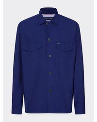 Tommy Hilfiger Overhemd Van Puur Katoen In Utility-stijl - Blauw