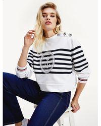 Tommy Hilfiger Tommy Icons Sweatshirt Met Maritiem Logo - Wit