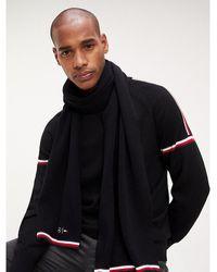 Tommy Hilfiger Mercedes Benz Knitted Scarf - Black