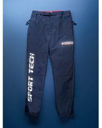 Tommy Hilfiger Sport Tech Denim Logo-Hose - Blau