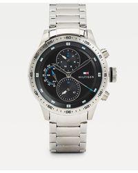 Tommy Hilfiger Multifunctioneel Horloge Van Roestvrij Staal - Metallic