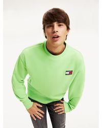 Tommy Hilfiger Neon Sweatshirt Met Tommy-badge - Groen
