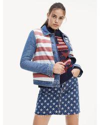 Tommy Hilfiger Stars'n'Stripes Trucker-Jacke - Blau