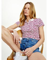 Tommy Hilfiger - Slim Fit Polo Met Abstracte Print - Lyst