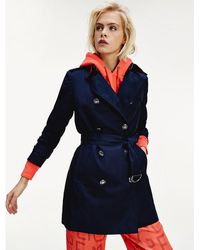 Tommy Hilfiger Double-breasted Utility-trenchcoat - Blauw