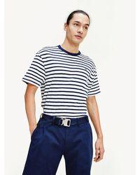 Tommy Hilfiger - Stripe Organic Cotton T-shirt - Lyst