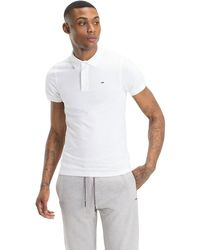 Tommy Hilfiger Slim Fit Poloshirt aus Bio-Baumwoll-Piqué - Weiß