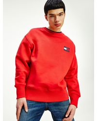 Tommy Hilfiger Tommy Badge Relaxed Fit Sweatshirt - Rood