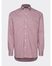 Tommy Hilfiger Th Flex Geruit Overhemd - Rood
