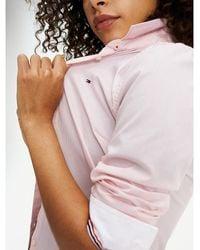 Tommy Hilfiger Chemise à rayures très fines - Rose