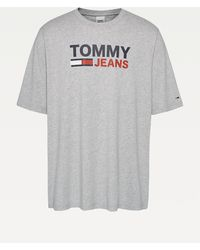 Tommy Hilfiger - Plus Large Logo Organic Cotton T-shirt - Lyst