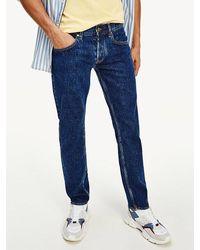 Tommy Hilfiger Denton Straight Fit Jeans Met Stretch - Blauw