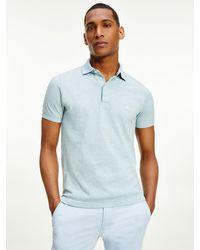 Tommy Hilfiger Slim Fit Poloshirt aus Stretch-Bio-Baumwolle - Grün