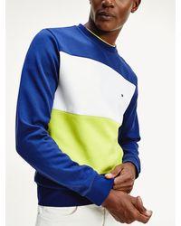 Tommy Hilfiger Colour-blocked Sweatshirt - Blauw