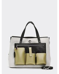 Tommy Hilfiger Charming Handtas Met Monogram - Naturel
