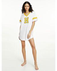 Tommy Hilfiger Varsity Nachthemd Van Biologisch Katoen - Wit