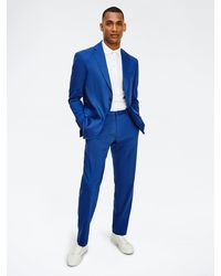 Tommy Hilfiger Textured Trousers - Blue