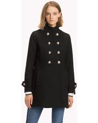 Tommy Hilfiger - Long Buttoned Trench Coat - Lyst