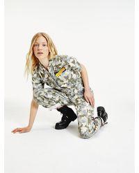Tommy Hilfiger Utility-jumpsuit Van Camouflagedenim - Blauw